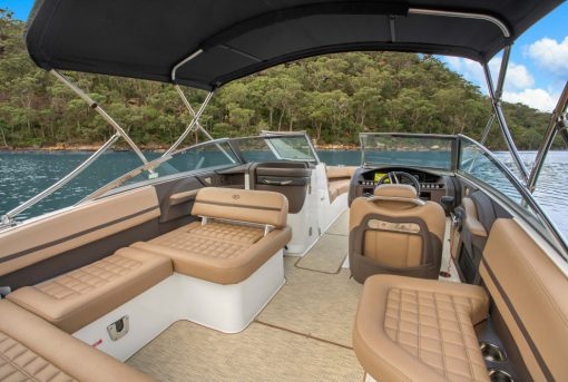 Interior design of an open boat