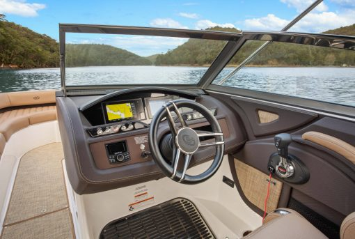 Driver seat of a boat